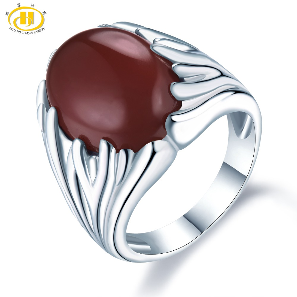 Hutang Agate Wedding Rings Natural Gemstone 925 Sterling Silver Ring Fine Fashion Stone Jewelry Christmas Gift for Womens NewHutang Agate Wedding Rings Natural Gemstone 925 Sterling Silver Ring Fine Fashion Stone Jewelry Christmas Gift for Womens New