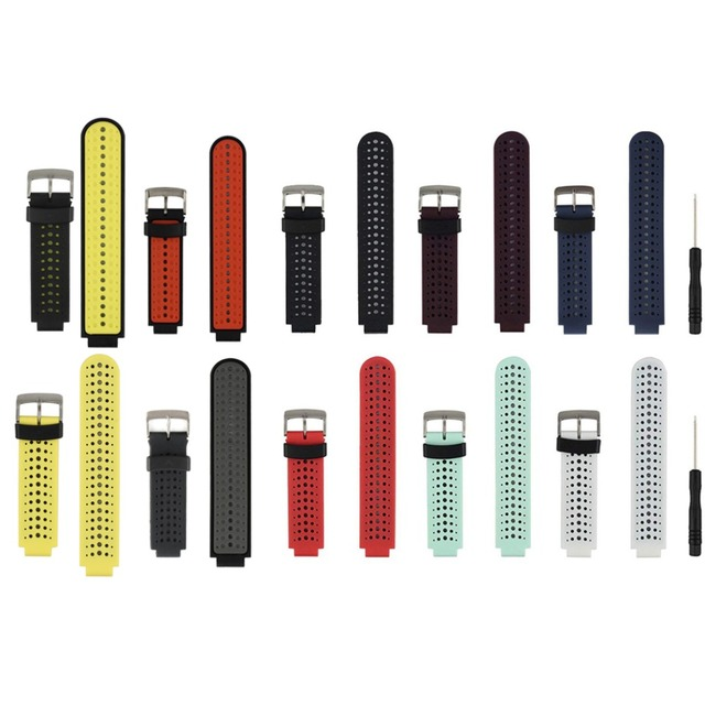 (235ss) siliconen Vervanging Watch Band voor Garmin Forerunner 230/235/235 Lite/220/620/630/ 735 Smart Horloge
