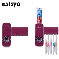 BAISPO автоматическая Зубная паста диспенсер зубная щётка держатель набор настенное крепление Стенд Зубная щётка дома наборы товары ухода ко...