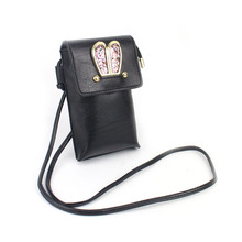 New Cute Cartoon Ladies Mini Baggage PU Clutch Crossbody Woman Sweet Coloured Rabbit Ears Messenger Bag LT88