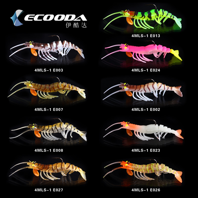 Big Shrimp Soft Fishing Lure Silicone Soft Bait 10cm 15g Luminous Shrimp Fishing Lure Artificial Baits Lure Fishing Tackle 30pcs set fishing lure kit hard spoon metal frog minnow jig head fishing artificial baits tackle accessories