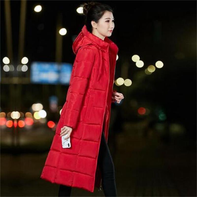 Abrigos mujer invierno 2019 fashion winter jacket women 39 s thick warm women Parkas long new jaqueta women 39 s hooded jacket in Parkas from Women 39 s Clothing