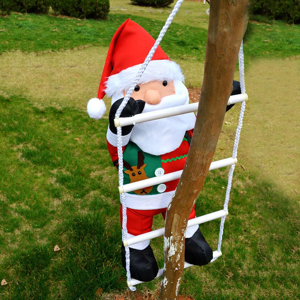 60CM Christmas Santa Claus Ladder Swing Doll Toy Christmas Tree Ornaments Decoration Exquisite For Home Xmas New Year Gift