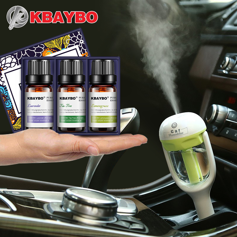 KBAYBO Mini Car Aroma essential oil Diffuser Humidifier Aromatherapy Portable Car Air Humidifier cool mist Purifier