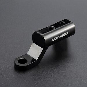 Image 5 - Yeni motosiklet genişleme rafı arka görünüm gidon ayna montaj adaptörü motosiklet ışık genişleme braketi telefon tutucu standı