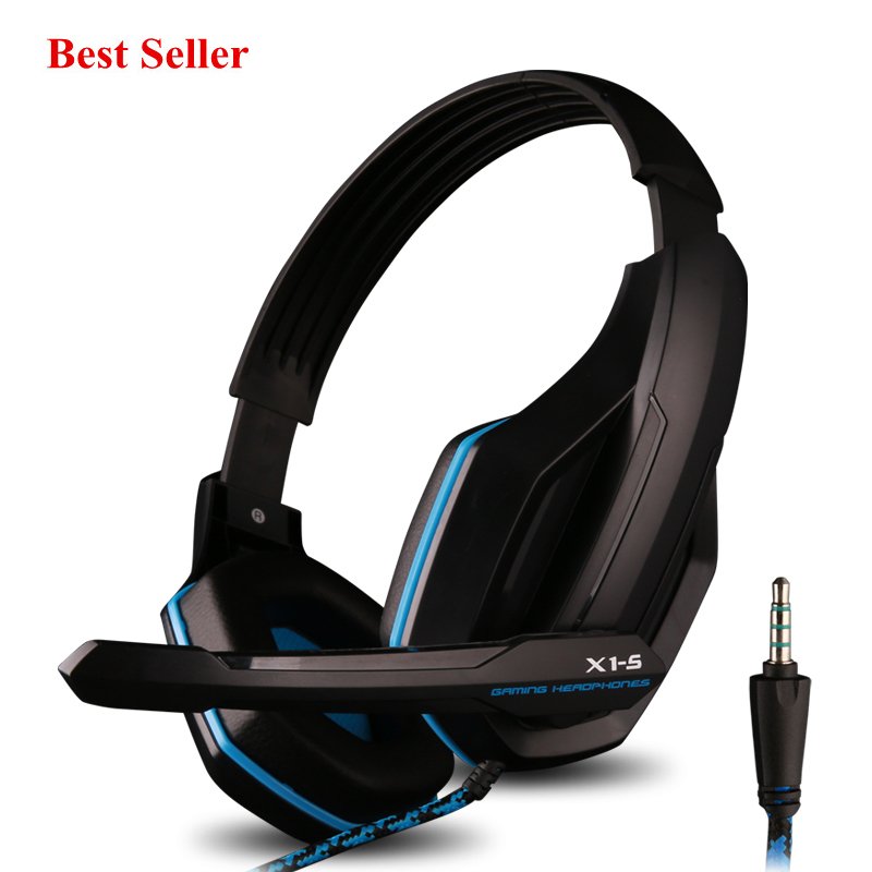 Ovann X1-S Gaming Headset wire Professional HIFI Bass Headphone Over Ear with Mic Earphone Stereo Bass for PC iphone kulakl k