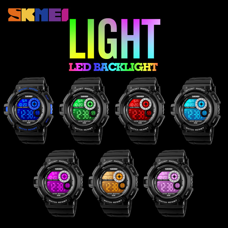 2017 New Arrival Sport Watches Fashion Casual LED Black Light Watch Shock Resistant Digital Wrist Watch Men SKMEI Sports Watches fashionable water resistant glow in dark wrist watch black white 1 x lr626