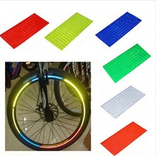 bike stickers reflective Outdoor Bicycle Stickers Bicycles Hot Fluorescent MTB Cycling Wheel Rim Mountain Bike Stickers 6 pcs 12 pcs bicycle wheel reflective spokes stickers rim steel wire safe accessories green