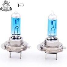 H7 Low Beam New Super White Light Bulbs 6000K 2 Pcs Halogen Xenon 12V 55W dianzi h7 55w 1200lm 5300k white light halogen car headlamps 12v 2 pcs