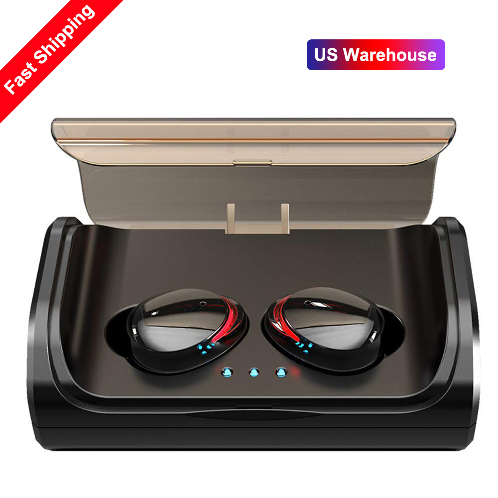 <font><b>T8</b></font> <font><b>TWS</b></font> Stereo Bass Deep Earphone Bluetooth 5.0 Headset IPX6 Waterproof True Wireless Earbuds Mini Earphones with Charger Box image
