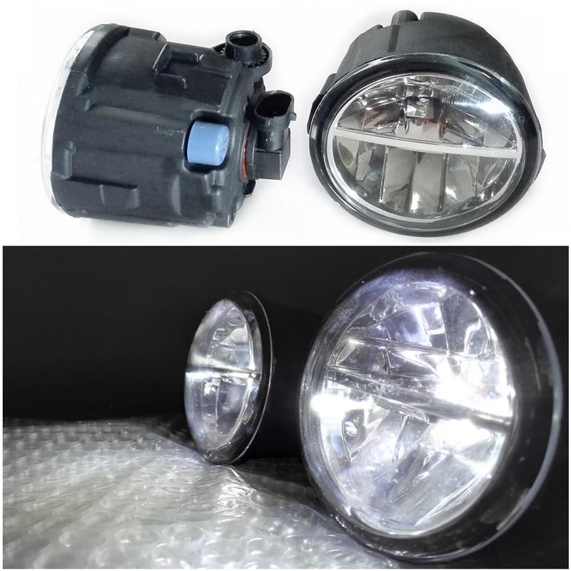 Car Styling 6000K White 10W CCC High Power LED Fog Lamps LightsFor NISSAN Note E11 Murano Z51 Juke PATROL 3 III Y62 2006-2015 for jaguar s type x type xk 1999 2013 car styling 6000k white 10w ccc high power led fog lamps drl lights