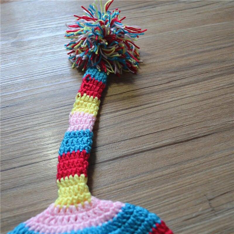 Yenidoğulmuş Crochet körpə şapka uşaqlar yun əl paraqraf uzun - Körpələr üçün geyim - Fotoqrafiya 3