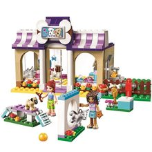 Mailackers 10558 Legoing Friends Heartlake Puppy Daycare 290Pcs Bricks Set Building Blocks GirlsToys For Children Legoing 41124(China)