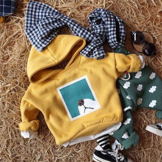 Мальчики толстовки 2016 осень мальчики футболка с длинным рукавом sweatershirt собака одежда для девочек TC9510