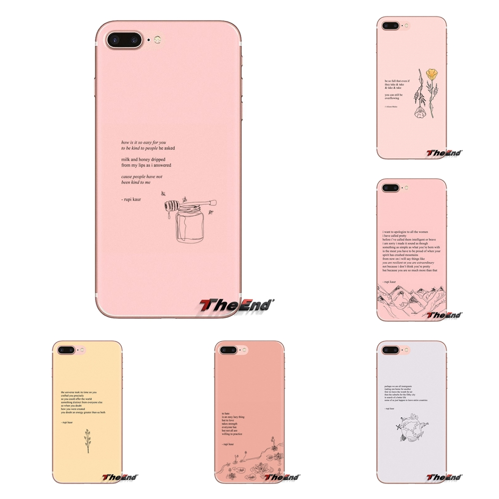 Shell-Covers Poetry-Verse Pink Pocophone F1 Xiaomi Redmi Plus Note 6A Transparent