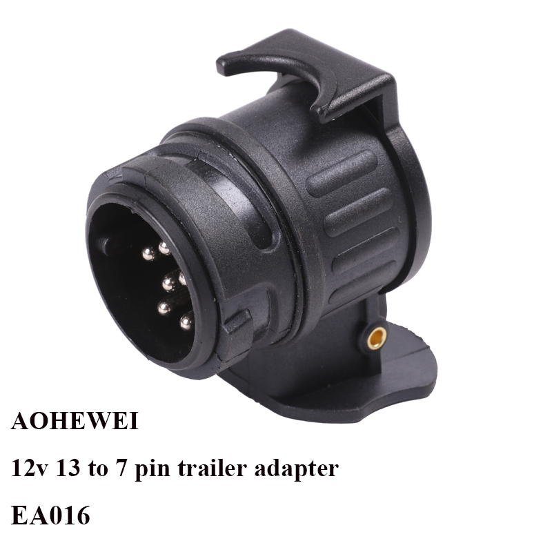 AOHEWEI 12V 13 Pin Plug To 7 Pin Socket Trailer Adapter Plug Trailer Truck Connector Plug Socket 13 To 7 Pin Towing Adapter