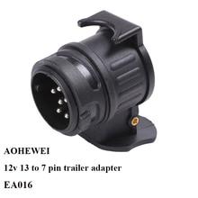 AOHEWEI 12 V 13 broches prise à 7 broches prise adaptateur remorque prise remorque camion connecteur prise 13 à 7 broches adaptateur de remorquage