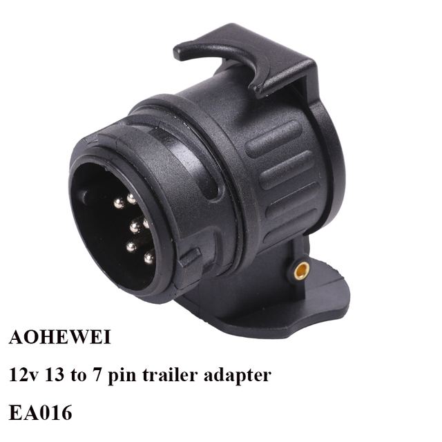 Aohewei 12 v 13 핀 플러그 7 핀 소켓 트레일러 어댑터 플러그 트레일러 트럭 커넥터 플러그 소켓 13 7 핀 견인 어댑터