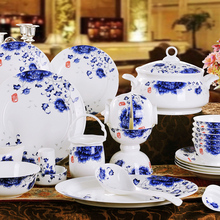 Asia Style 60PCS SET Blue and white porcelain ceramic dinnerware set(China) & Buy asian dinnerware sets and get free shipping on AliExpress.com
