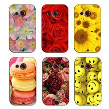 Cartoon Animal Flower Phone Case for HTC Desire C A320E Best Quality Hard PC Back Cover Fundas for HTC Desire C A320E