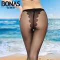 BONAS 15D Bikini medias de seda pantyhose incarcerators verano ultrafino femenino sexy negro invisible stocking