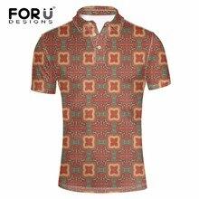 FORUDESIGNS Casual Polo Shirt Men Polo Shirt 3D Geometric Printing Brands Men British Polo-shirts Cotton Short Sleeved Men Shirt