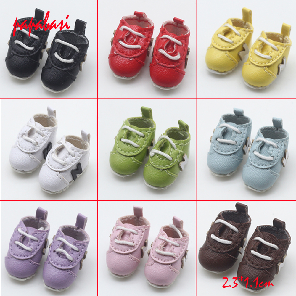 2.3*1.1cm Dolls shoes for 1/6 blyth ,Azon, OB doll ,licca,1/8 bjd doll mini shoes toys Accessories