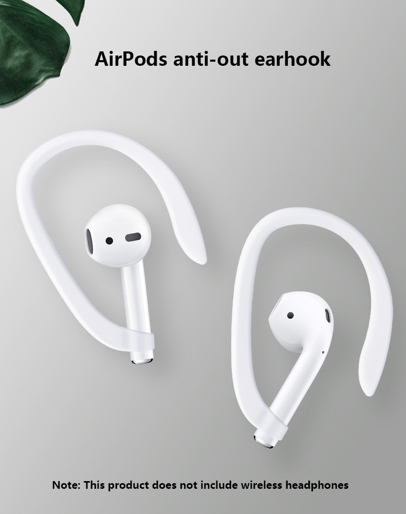 Protective Earhooks Holder Secure Fit Hooks for Airpods Apple Wireless Earphones Accessories Silicone Sports Anti-lost Ear Hook 1 Pair1