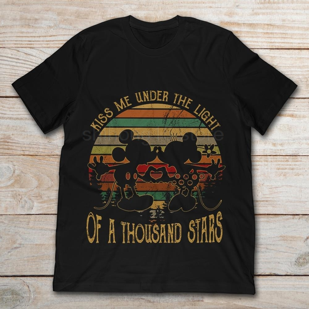 Mickey And Minnie's Song Kiss Me Under The Light Of A Thousand Stars 2019 Summer Men's Short Sleeve T-Shirt image
