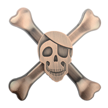 Four leaves Skull Zinc alloy Fidget finger Spinner tri Spinner Fidgets font b Toys b font
