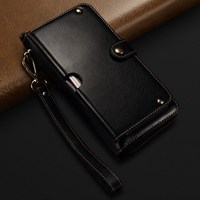Genuine Leather Handbag Case For IPhone X 6 6S 7 8 Plus Wallet Pouch Universal Strap