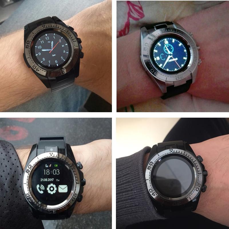 Купить с кэшбэком KESHUYOU SW007 Bluetooth Smart Watch Android Smart Watch Men Smartwatch Android Wear Smart Clock phone Camera With Sim TF card