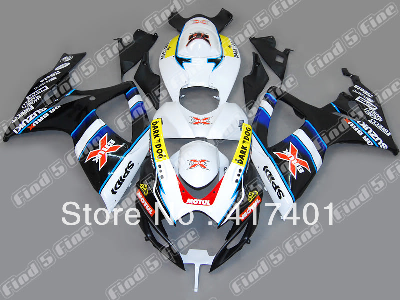 white black red yellow for SUZUKI GSX R600 R750 06-07 GSXR 600 750 GSXR600 GSXR750 GSX-R600 GSX-R750 K6 06 07 2006 2007 fairing