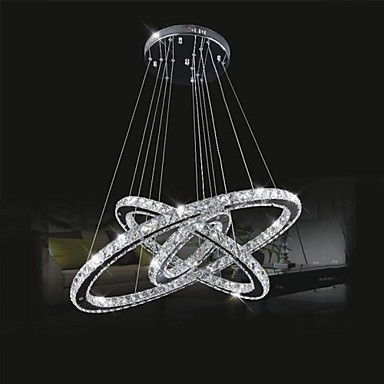 50CM LED Modern Crystal Pendant Lights Lamp For Dinning Room, Lustres De Cristal Sala Teto E Pendentes Luz 40cm acrylic round hanging modern led pendant light lamp for dining living room lighting lustres de sala teto
