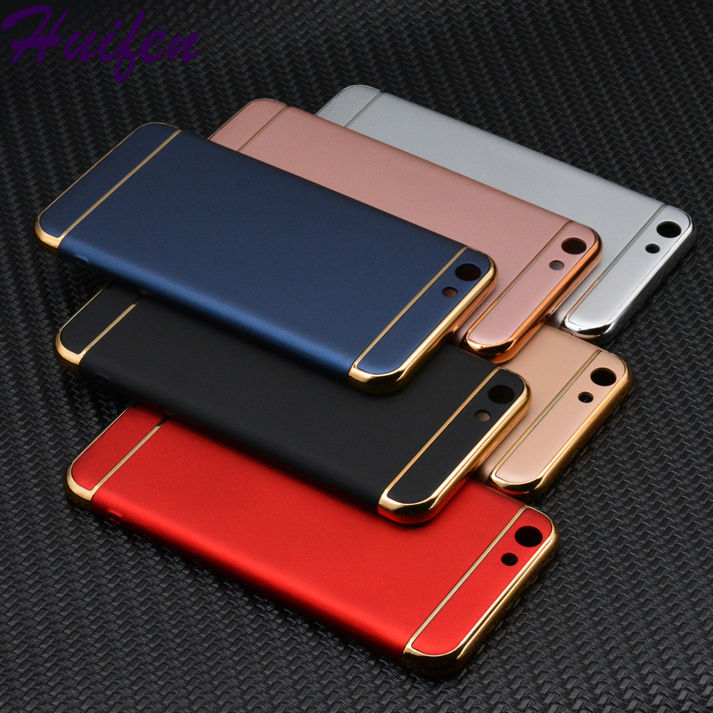 half off 1d7d2 06802 US $4.0 |For VIVO Y69 Case Luxury Protective Back Cover Electronic Plating  3 in 1 Hard PC Hybrid Case For BBK VIVO Y69 Phone Bag (XX428)-in Fitted ...