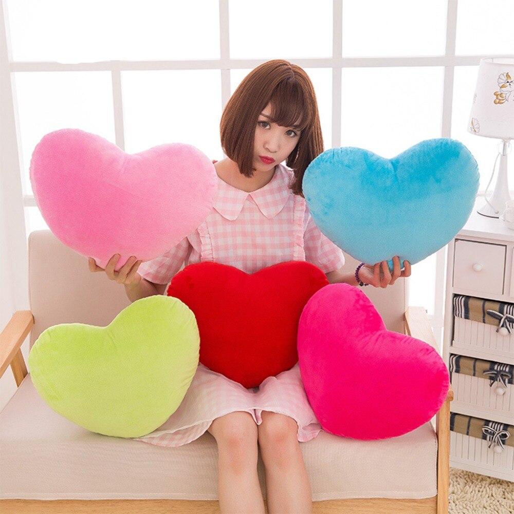 HBB Heart Toy Soft Plush Kasta Kudde PP Bomull Kreativ Docka 15cm - Plysch djur