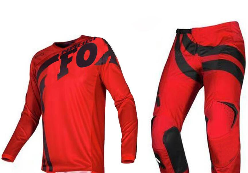 Free Shipping 2019 NAUGHTY FOX MX 180 Cota Red Jersey Pant Combo ATV Dirt Bike Motocross