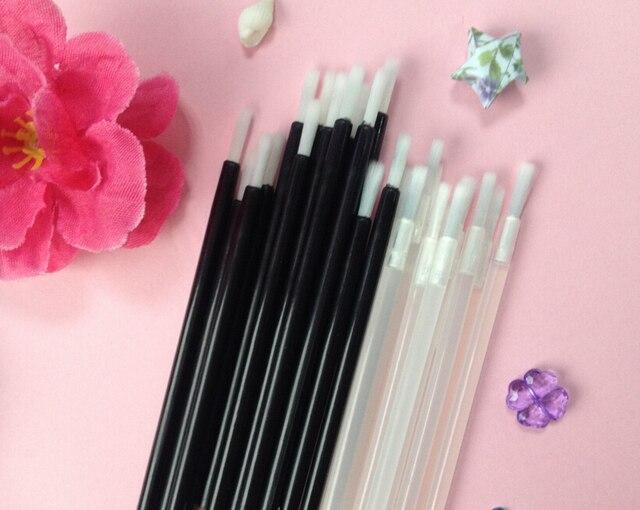 100Pcs Disposable nylon hair brush, disposable multi-purpose makeup brush, portable small lip brush 1