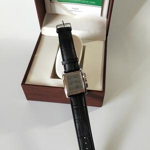 Image 4 - Azan montre pour tous les musulmans 100% Original islamique musulman montre bracelet avec boîte en cuir mosquée prière horloge 6208 argent