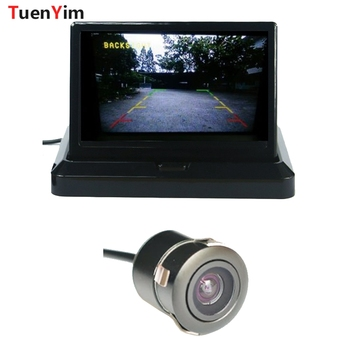 Mini CCD Auto Parking Camera Front cam Car Front/Rear View Camera with 5inch LCD Foldable Monitor Easy to Use Parking kit фото