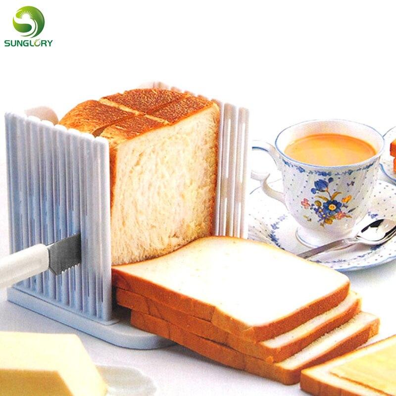 Kuchyňské kutilství Kráječ chleba Průvodce Bochník Toast Cutter Vyrovnávač Chléb řezání Plátek Fixator Tools 4 Chléb chleba plastové formy