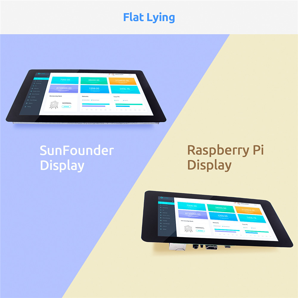 Image 5 - SunFounder 10.1 IPS LCD Touch Screen Display Monitor HDMI 1280*800 for Raspberry Pi 3B+ 3B 2B  LattePanda Beagle Bone-in Demo Board Accessories from Computer & Office