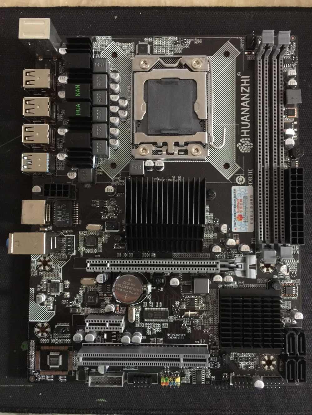 HUANAN ZHI X58 LGA1366 материнская плата cpu Xeon X5675 3,06 ГГц с кулером ram 16G (2*8G) DDR3 регистровая и ecc-память