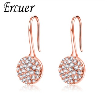 ERLUER Fashion Women Drop Earrings CZ Charm Wedding Earring for Girl Classic Party Engagement Jewelry Friendship Valentine Gifts
