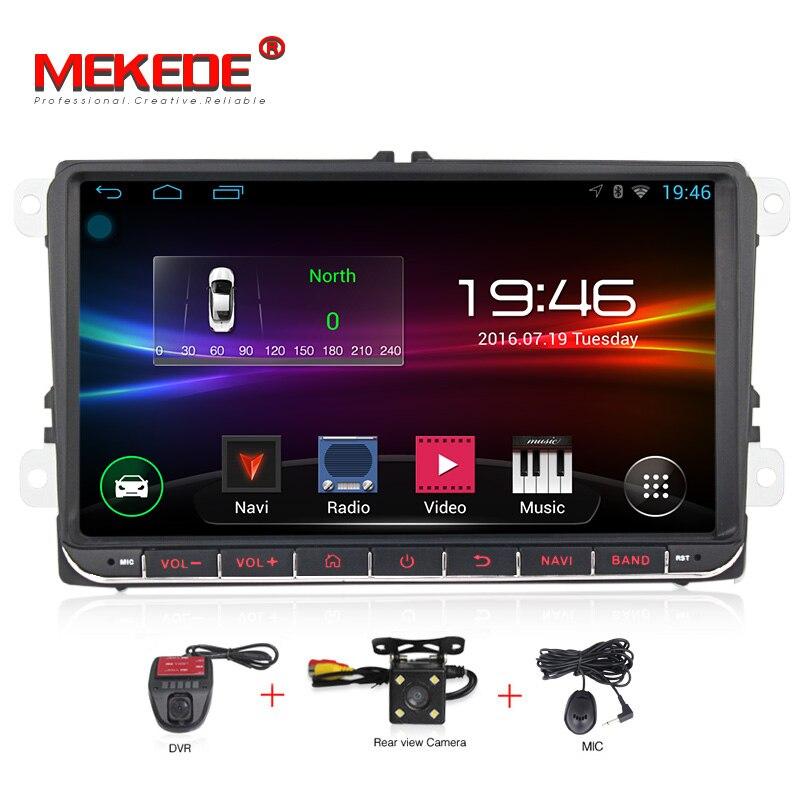Del Android di trasporto libero 9 pollice Car DVD Player Per VW/Volkswagen/POLO/PASSAT/Golf/TOURAN /SHARAN Quad Core Navigazione GPS USB Radio