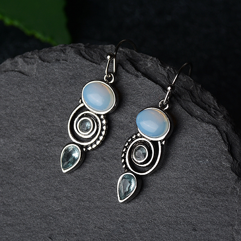 Vintage Design Geometric Piercing Charm Drop Earring For Women Wedding Pendientes Femme Jewelry Eh1003