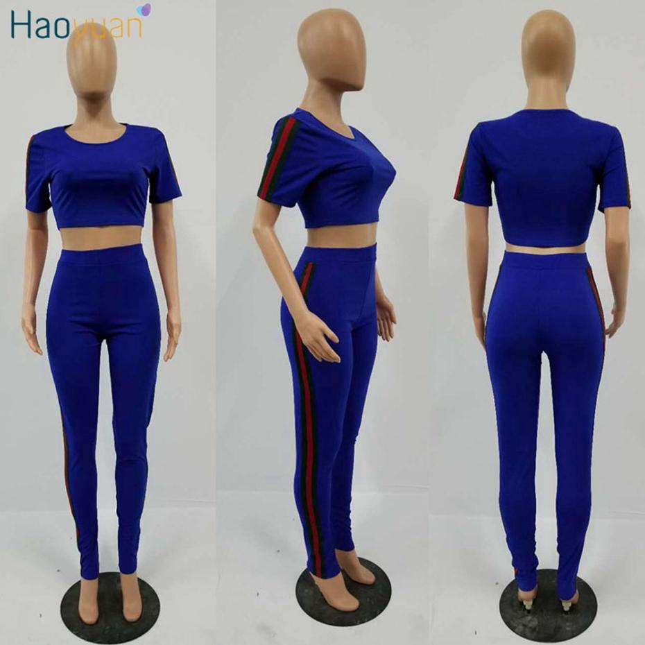 HTB1GfqpSVXXXXcuaXXXq6xXFXXX6 - Tracksuit Pants and Crop Top Bodycon Outfit Suit 2 Piece Set Women PTC 180