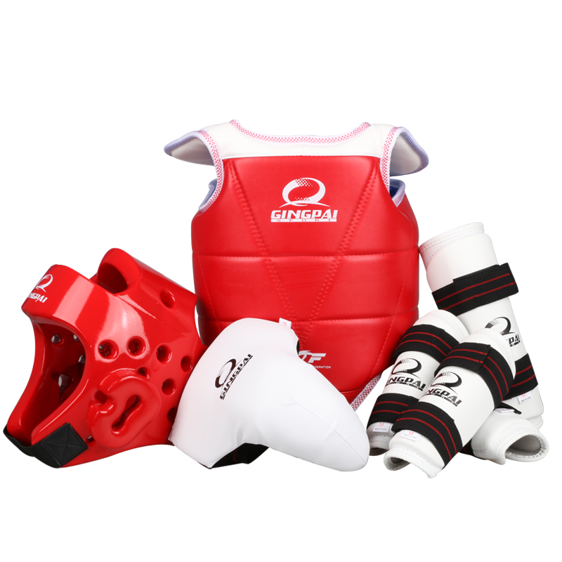 full set protective goods MMA Taekwondo Karate sport shin protector arm protector helmet body protector crotch protector 2017new full set taekwondo protectors karate shin guard arm protector helmet body chest protector groin crotch protective guards