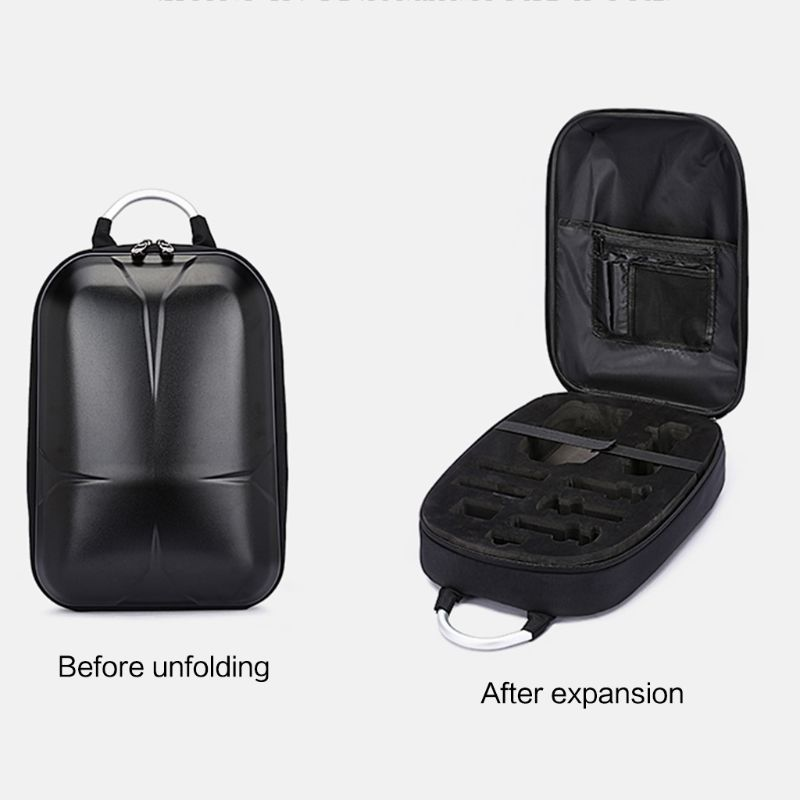 Le plus récent 1 pièces noir imperméable à l'eau dur Shell PC sac à dos sac de stockage pour Xiaomi FIMI X8 SE RC quadrirotor Drones accessoires