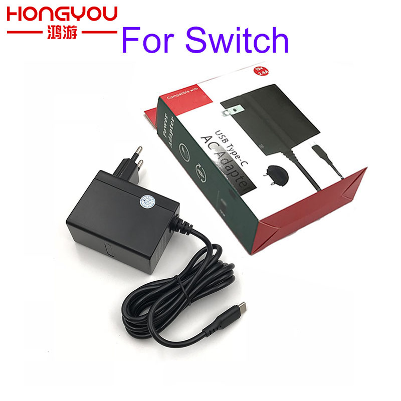 10pcs Fast Charging AC adapter For NS NX Nintendo switch 15V 2.6A power fast charger type C usb ac adapter wall adaptor